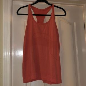 Lululemon orange tank top